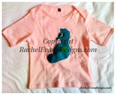 Pink tshirt with seahorse