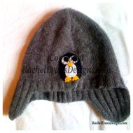 Grey hat with penguin