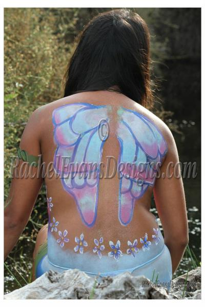 Body painting, fairy wings